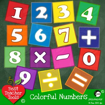 Number 4 clipart bright. Blocks numbers and math