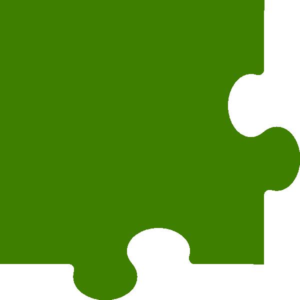 Puzzle piece clip art. Corner clipart template