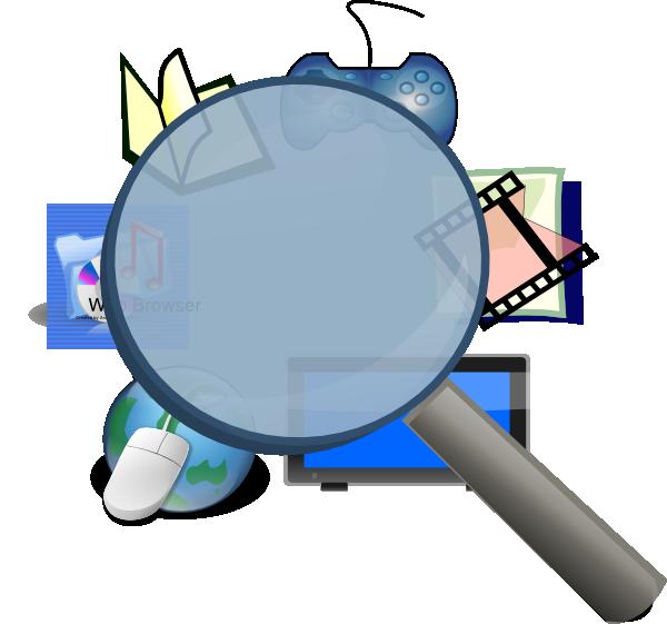 Media detective clip art. Website clipart multimedia