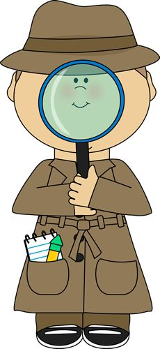 Words clipart detective. Free word cliparts download