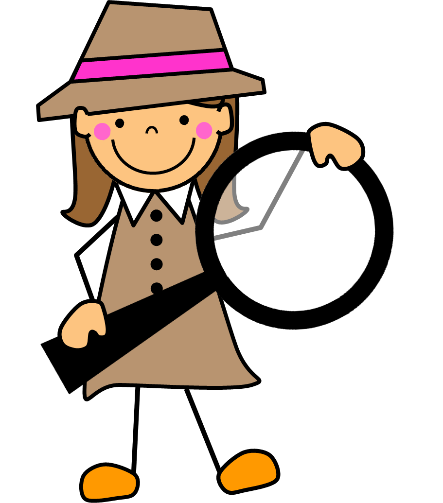 Play detective blends by. R clipart word