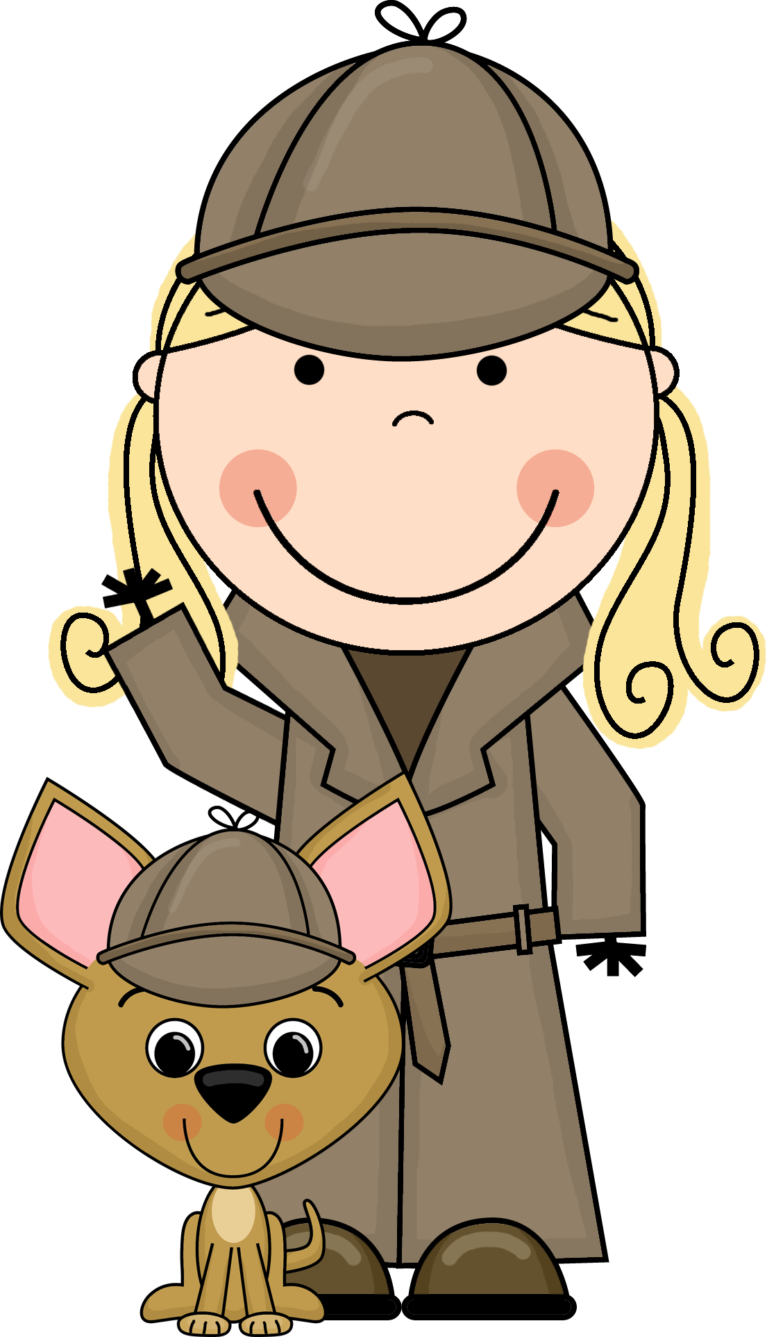 collection of high. Evidence clipart female detective