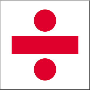 Clip art symbols color. Clipart math division