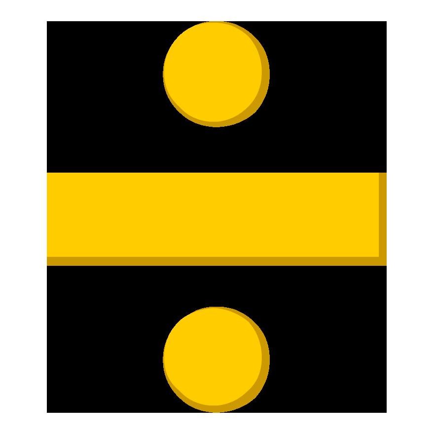 Symbol signs symbols. Clipart math division