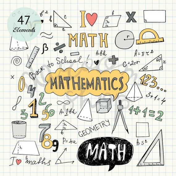 Draw clipart math drawing. Hand drawn mathematics clip