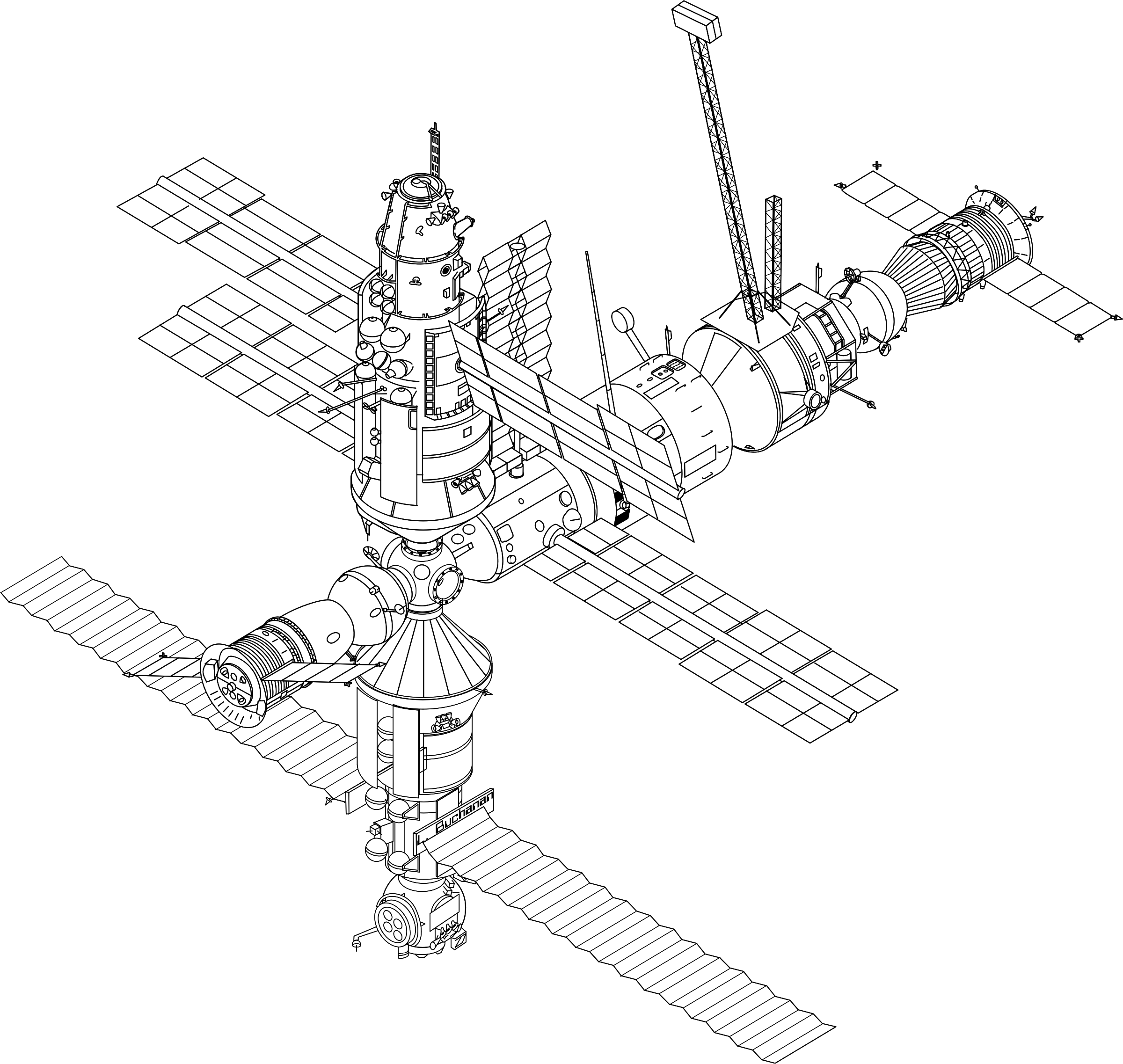 Space satellite drawing at. Draw clipart math