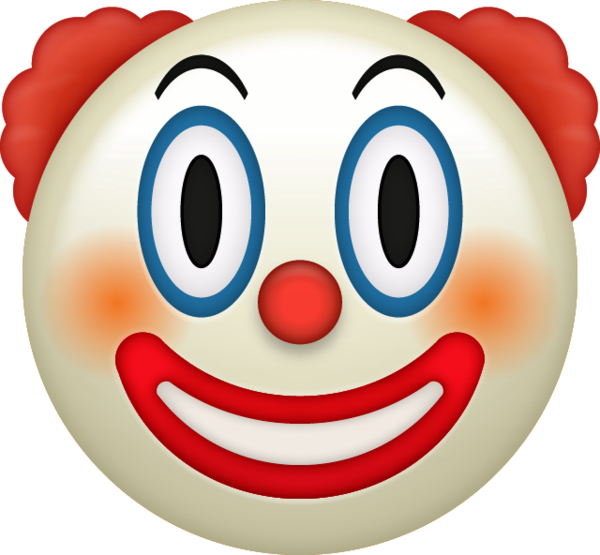 Bildergebnis f r emoji. Clown clipart charade