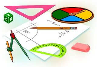Math clipart tool. Maths equipment station