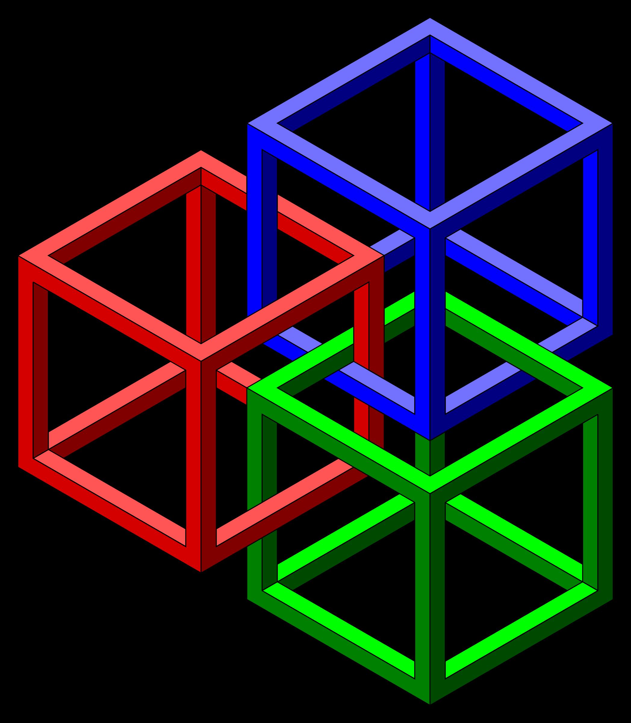Clipart math geometry. Desktop backgrounds impossible cubes