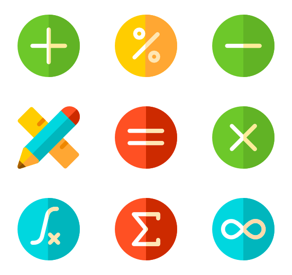 collection of math. Multiplication clipart icon