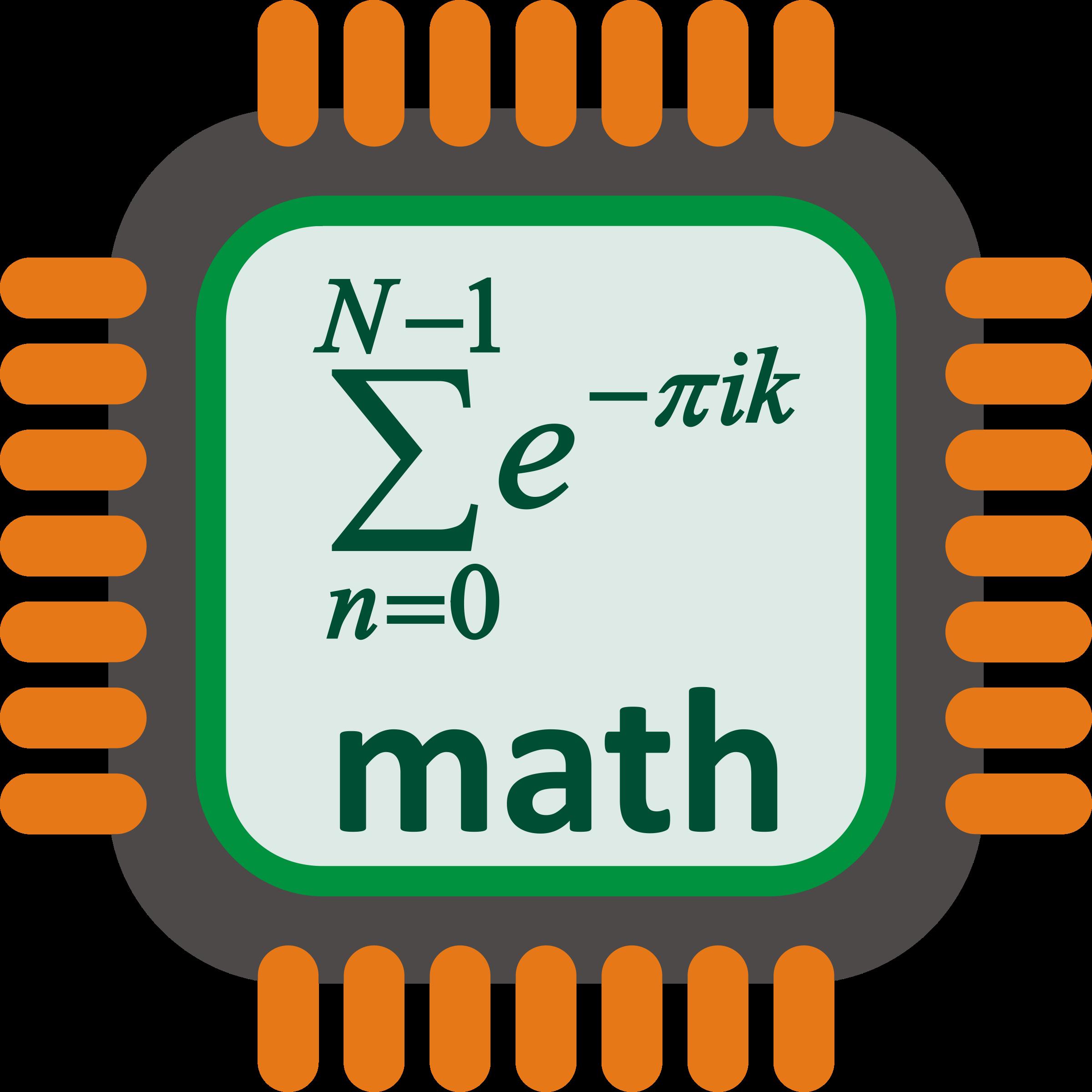 Processor big image png. Clipart people math