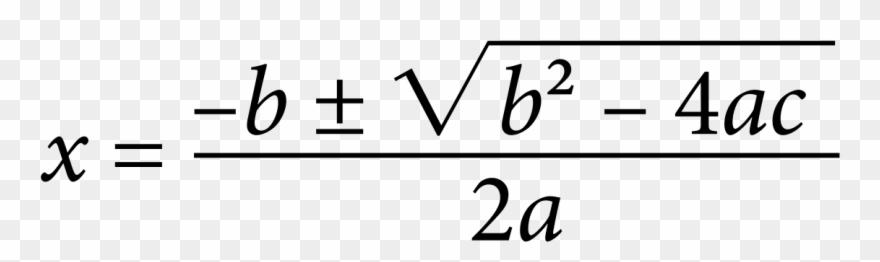 Clipart math math equation. Quadratic formula by jhnri