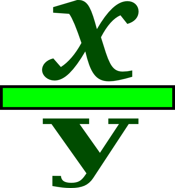 fractions clipart math symbol