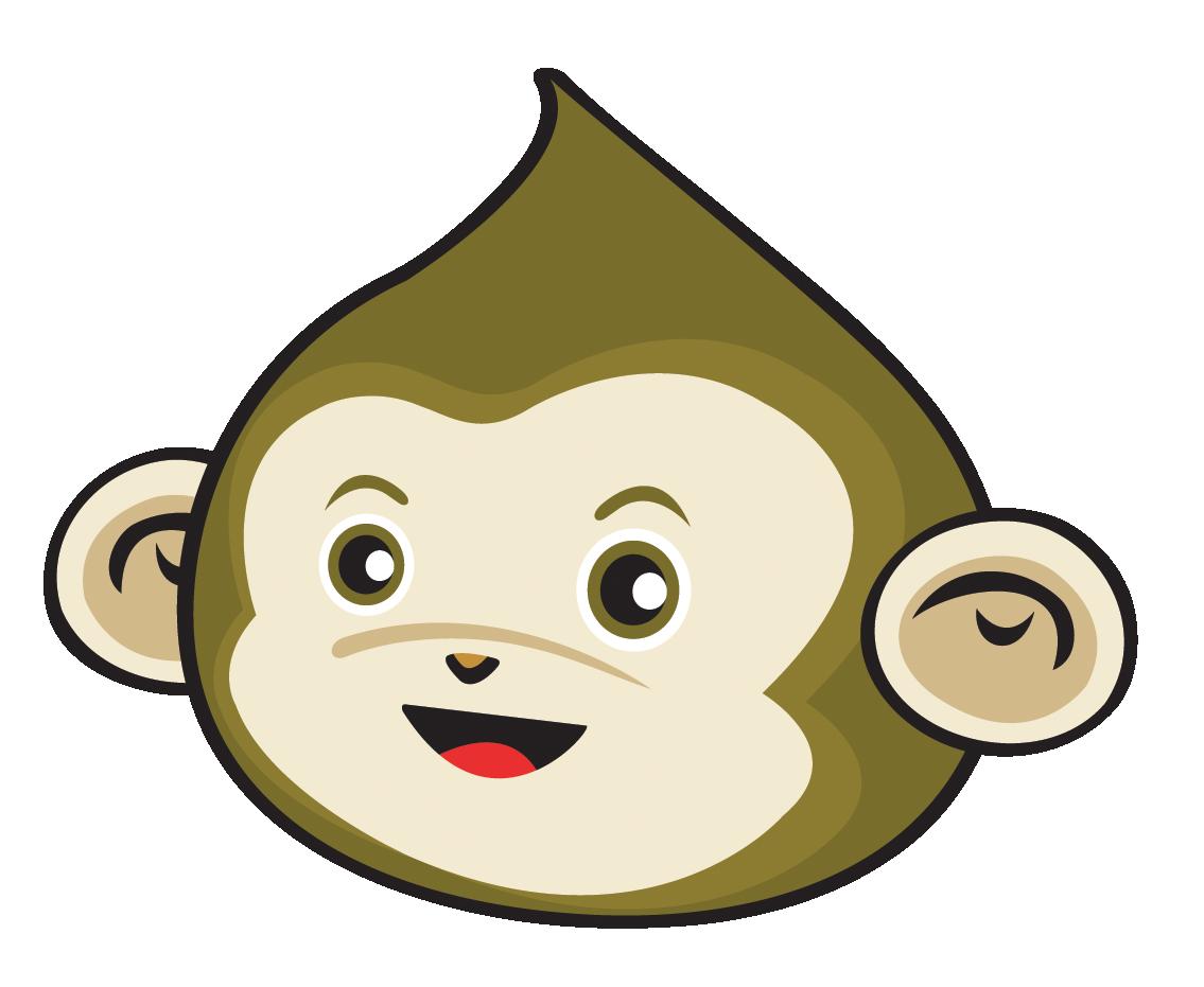 Monkey children mathematics course. Clipart math mental math