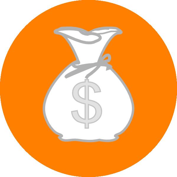 Clipart math money. Orange bag clip art