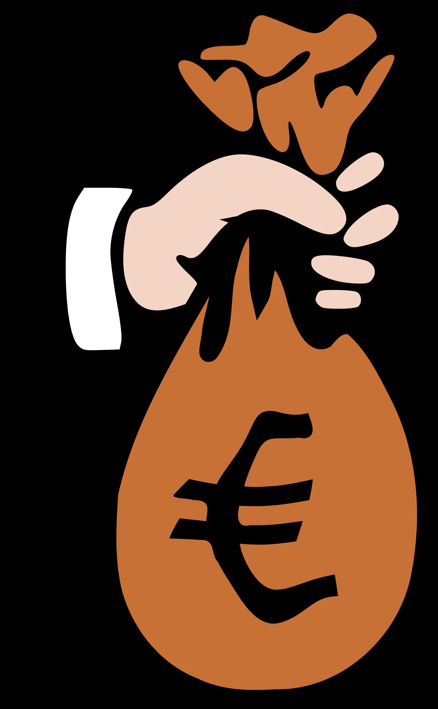 Clipart money math. Sac euro big image