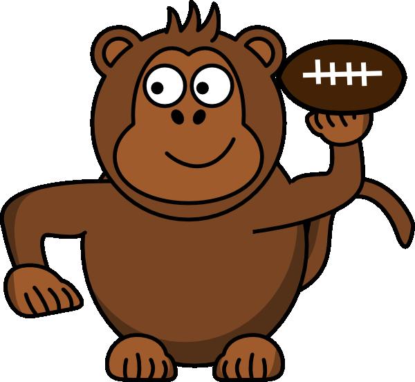 Footprint clipart monkey. Football clip art at