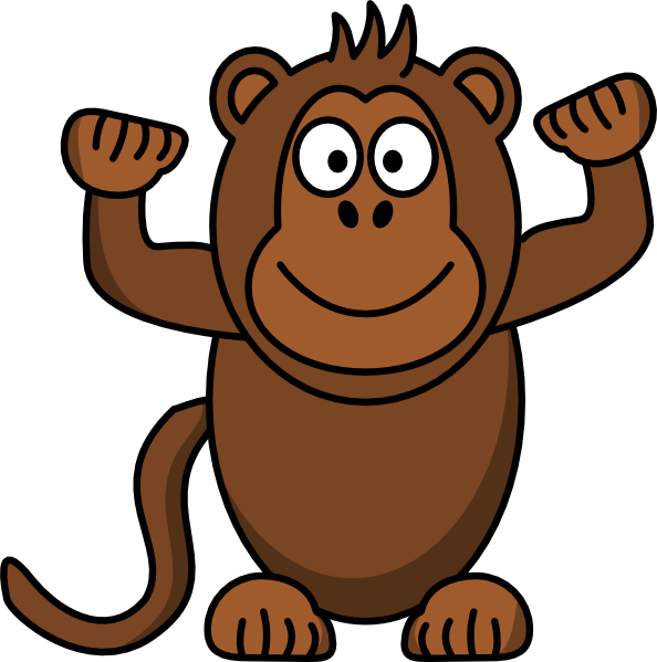 Clip art at clker. Monkey clipart number