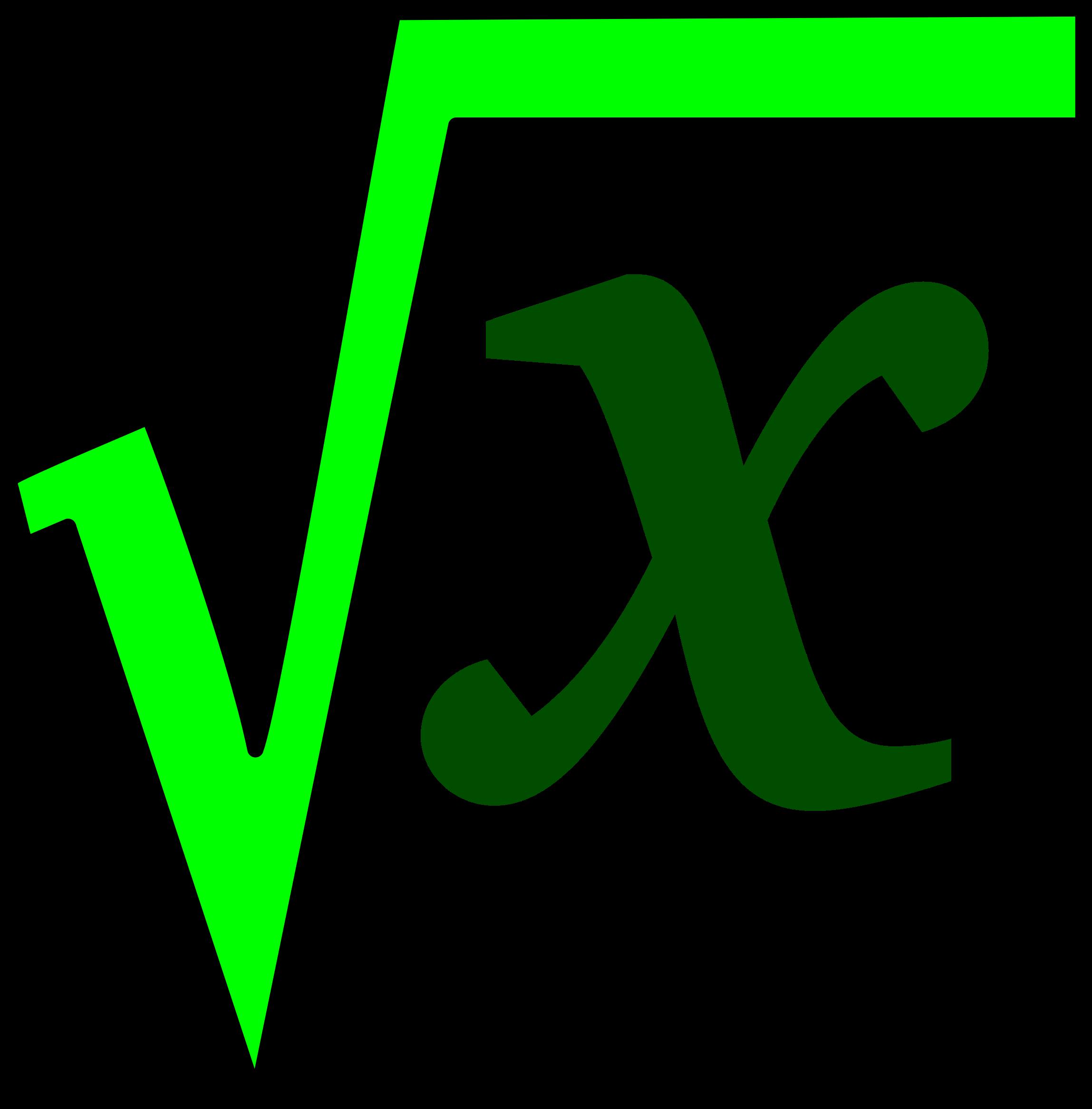 Geometry clipart mathematical model. Math sqrt big image