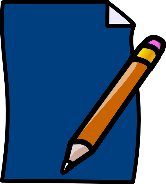 Pencil blue clip art. Planner clipart small