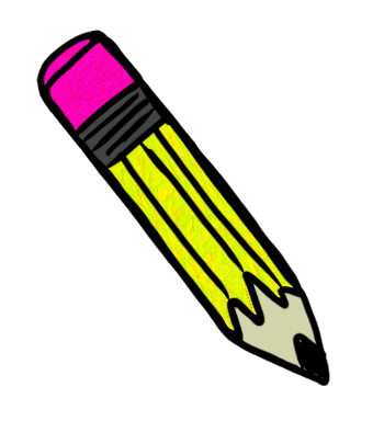 Paper and pencil math. May clipart thing