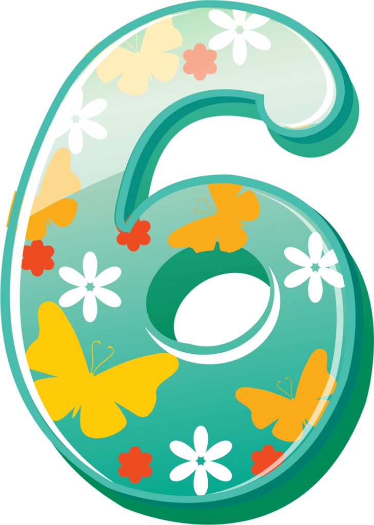 dc a e. Number 6 clipart numerical number