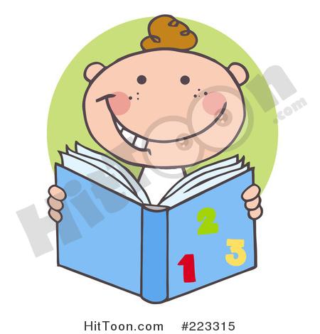 Happy white school boy. Clipart math reading