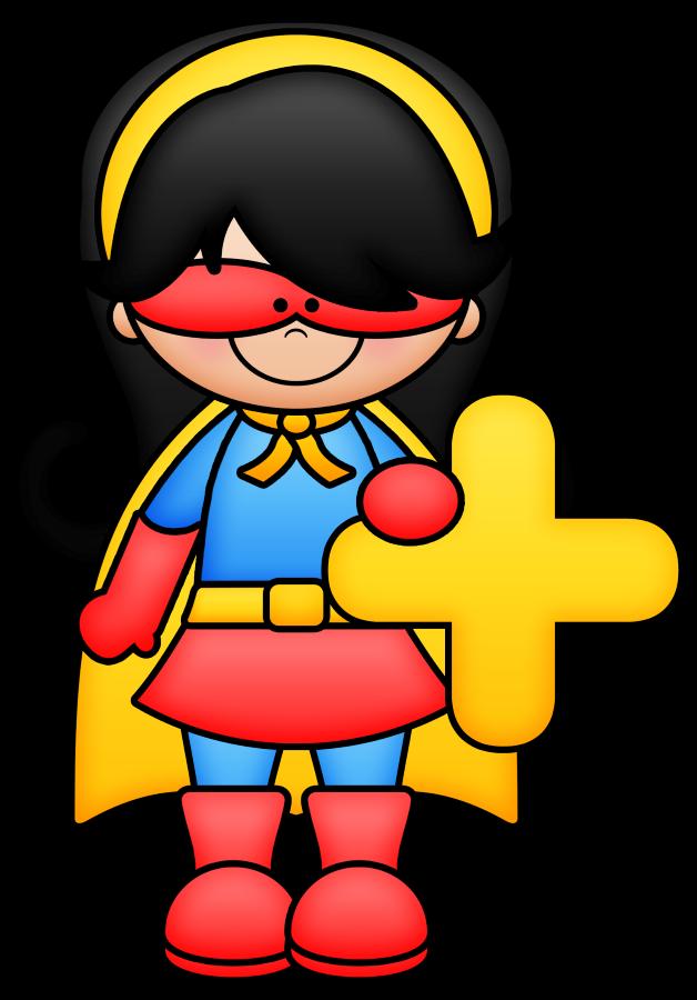 superheroes clipart math
