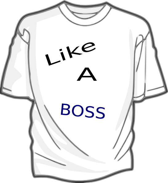 National like a boss. Clipart shirt day