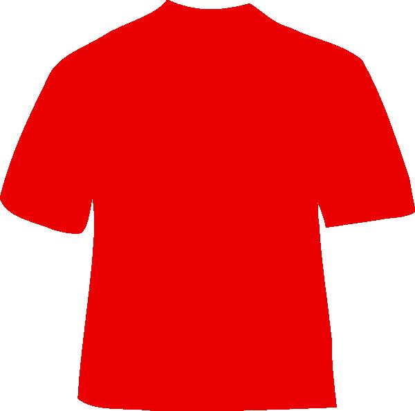 Red t clip art. Clipart shirt baju