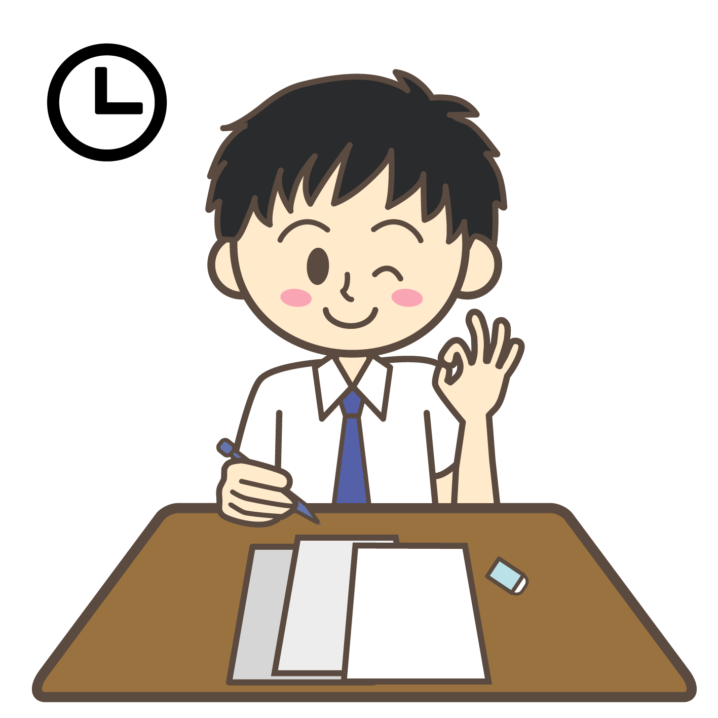 Tips for time management. English clipart english test
