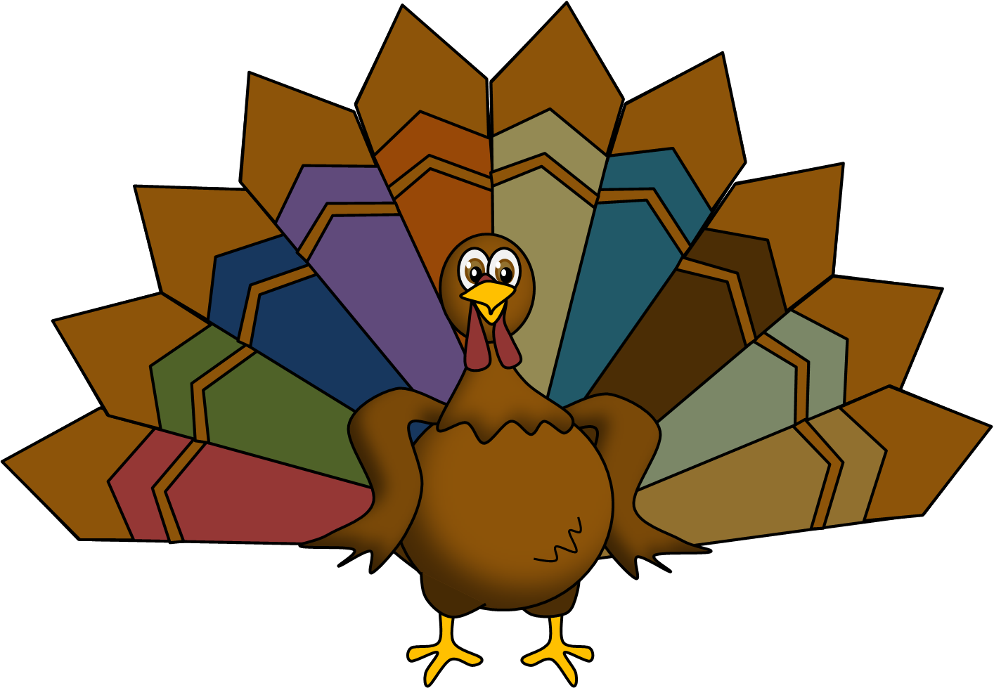 The files of mrs. Clipart reading thanksgiving