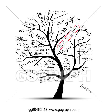 Tree clipart math. Vector for your design