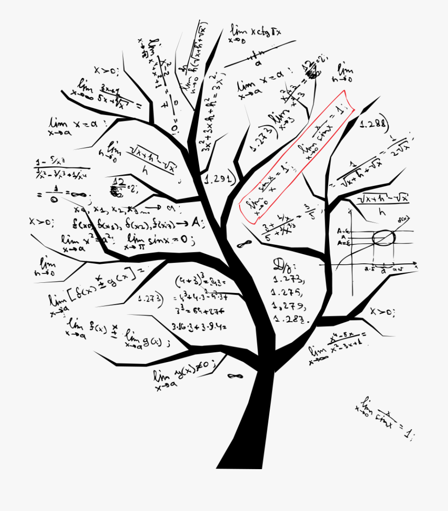 Black and white free. Tree clipart math