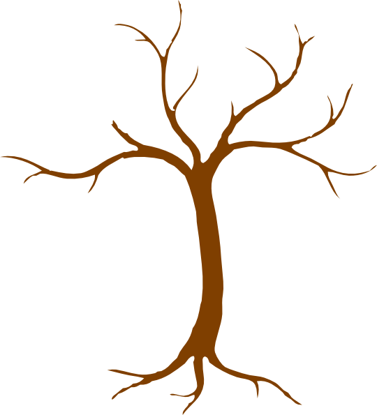 Clip art at clker. Stick clipart brown tree branch
