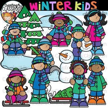 Winter clipart teacher. Kids holiday