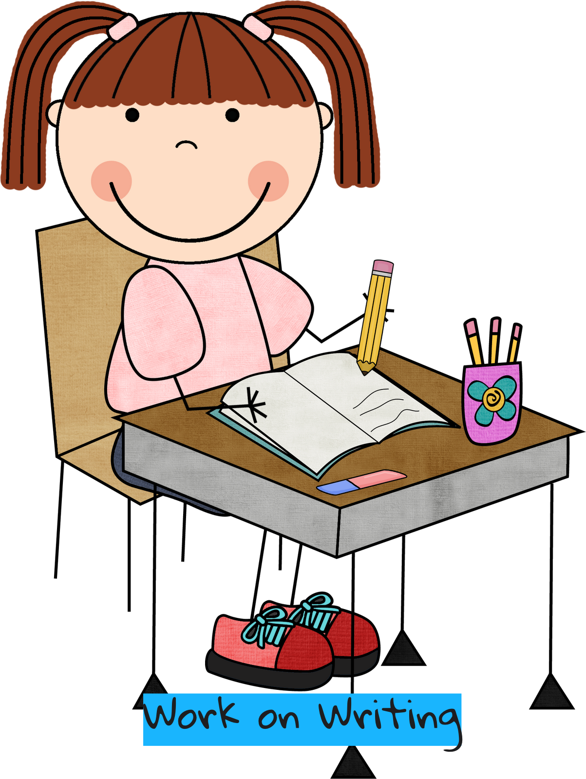 collection of daily. Writer clipart unfinished work
