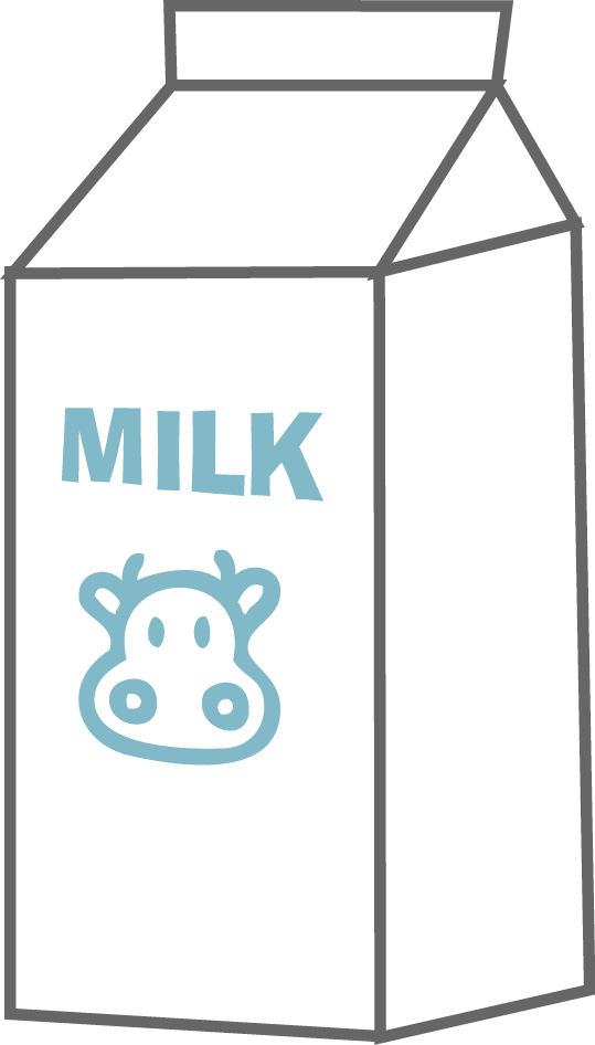Clipart milk. Cartoon