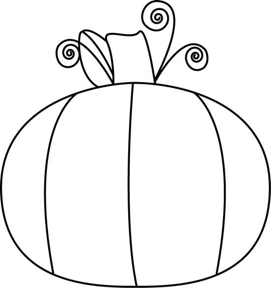 Black and white clip. Clipart pumpkin line