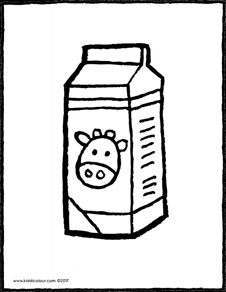 A carton of colouring. Milk clipart coloring