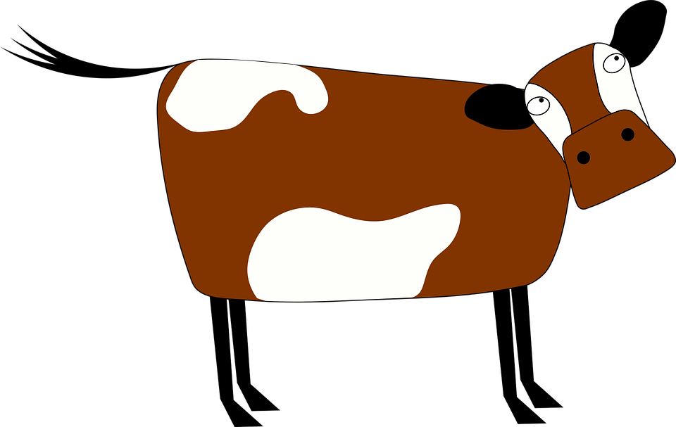 Exploding the crumby vegan. Cows clipart tooth