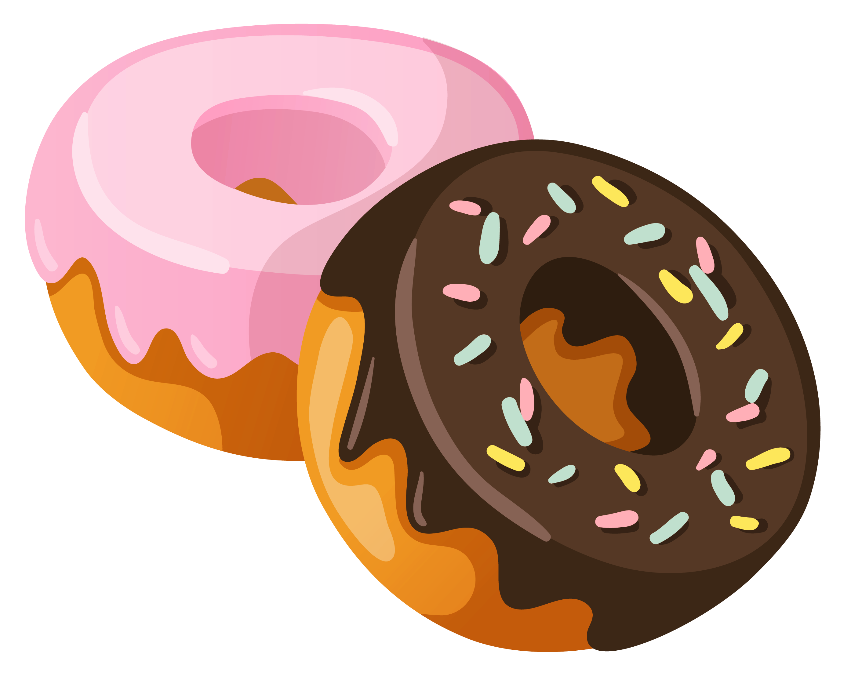 collection of donut. Donuts clipart eating