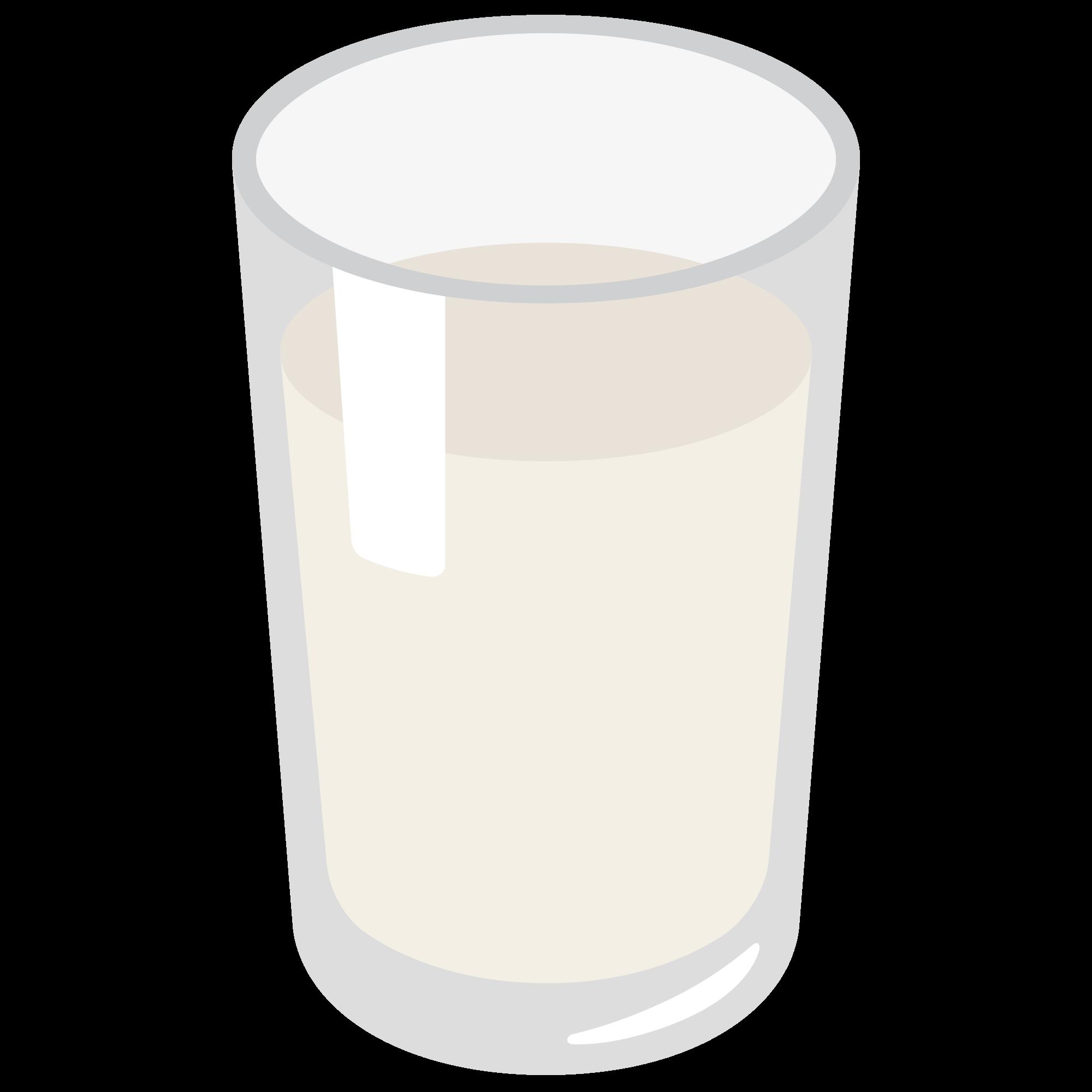 Cookie clipart glass milk. File emoji u f