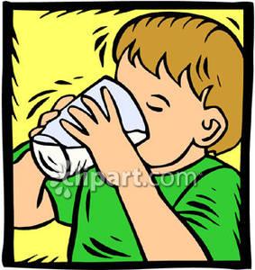 Little boy a of. Clipart milk drinking glass