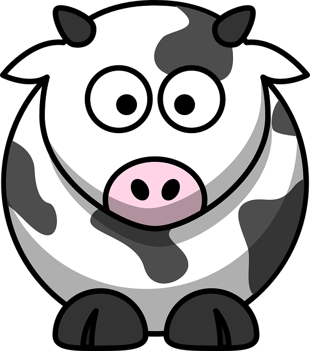 Cow face cartoon shop. Lamb clipart barnyard animal