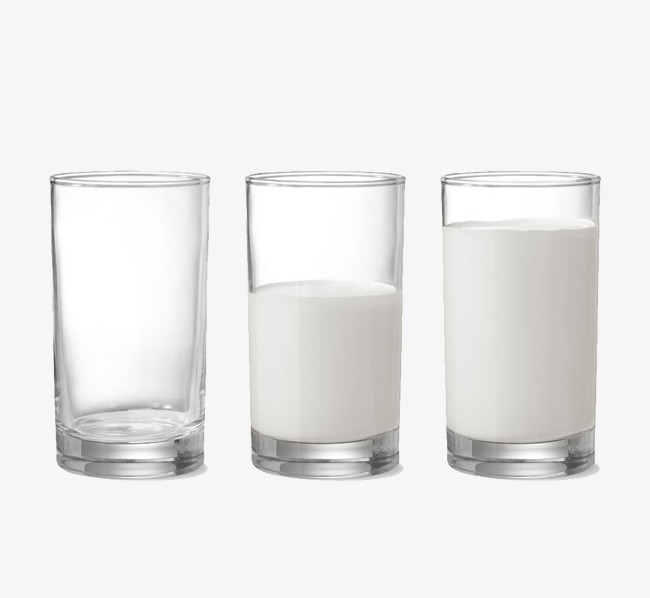 Png glass of transparent. Clipart milk half cup