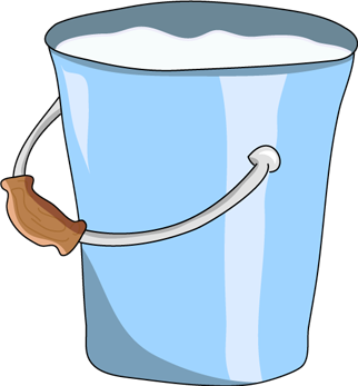 Clipart milk milk bucket. Blue