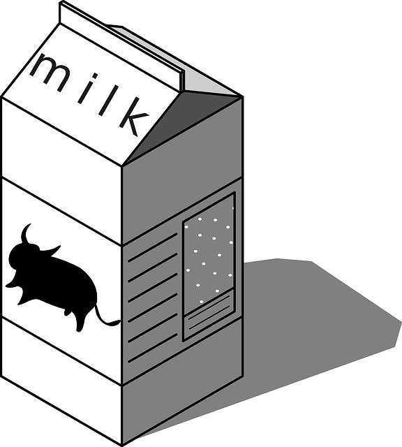 Carton black and white. Milk clipart milk container
