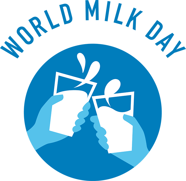 World june logo. Clipart milk milk day