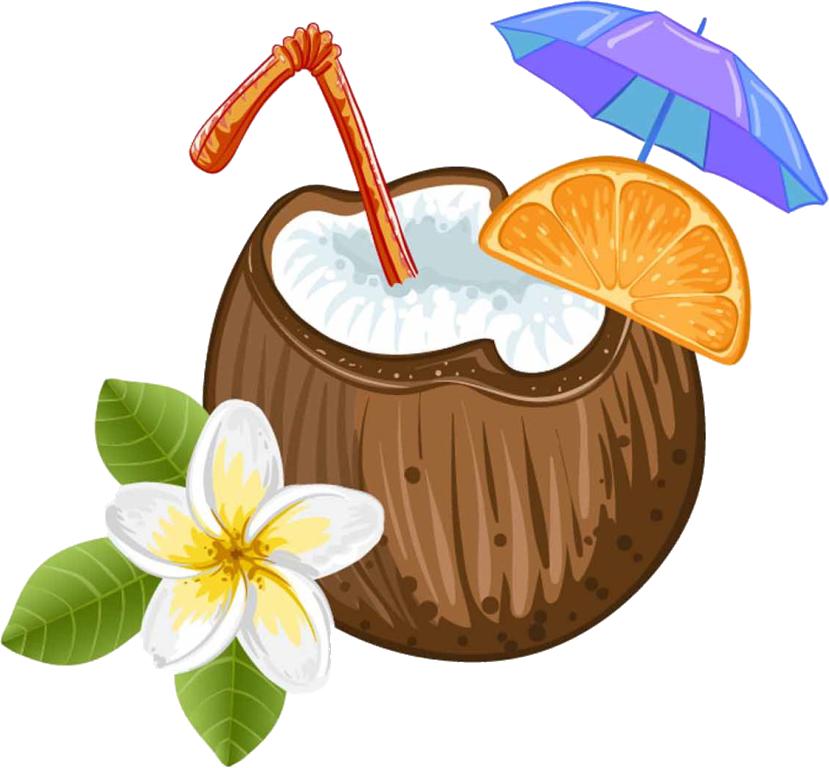 Pixf a colada juice. Cocktail clipart coconut